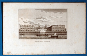 Alte Ansicht London Greenwich Hospital,  1830