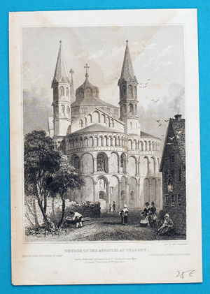 Alte Ansicht Köln CHURCH OF THE APOSTLES AT COLOGNE.,  1835