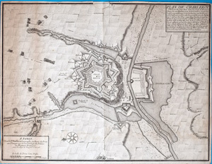 Stadtplan Paris PLAN DE CHARLEROY, A PARIS, 1708