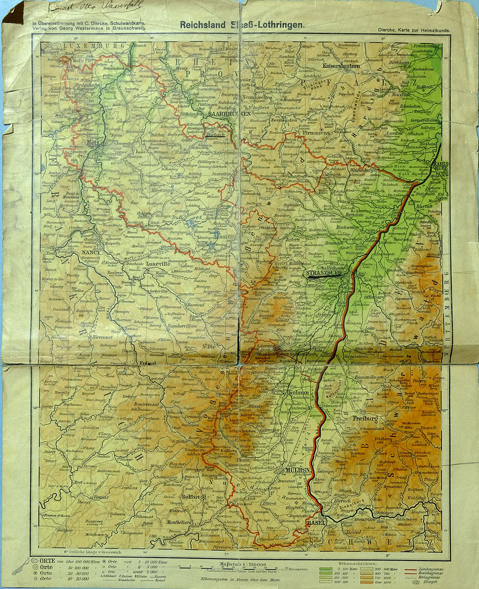 Lothringen Karte.Alte Landkarte Lothringen Elsass Metz Nancy Luneville